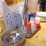 やぶ屋 - テーブルサイド