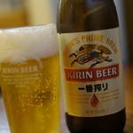ラーメンひかり - ビール