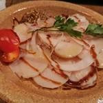 酒町ちゅうじろう - 自家製鶏ハム…(;´д`)   これでワインに変えました!
