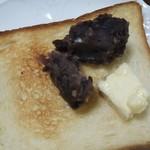 91599759 - 食パンは あんバターで♪
