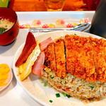ちゃつぼ - 料理写真:カツ飯(600円)全景