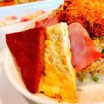 ちゃつぼ - カツ飯(600円)の副菜