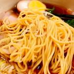 照麺 - チャーシュー麺(980円)麺部アップ