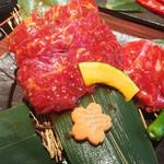 福牛 - 霜ロース・ハラミ焼肉定食