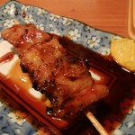 酒菜やおたふく - 江別産マイアーレ豚ホルモン串180円