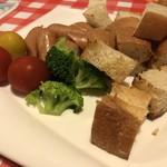 グランパスタ - チーズフォンデュの具材