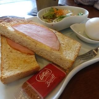 茶苑 - 料理写真:ハムトーストセット