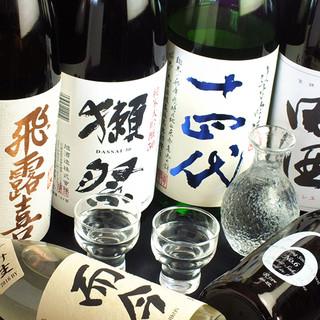 新政・而今・田酒・飛露喜・獺祭は何杯飲んでも一合900円!