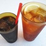 ムーンカフェ - アイスコーヒー&レモンティー(๑•᎑•๑)