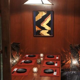 少人数~中団体様向けの個室です。寛ぎの個室空間で創作和食を堪能してください♪