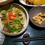 北浜の和がや - サラダと小鉢