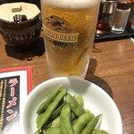 麺場居酒屋 ラの壱 - 生ビールセット