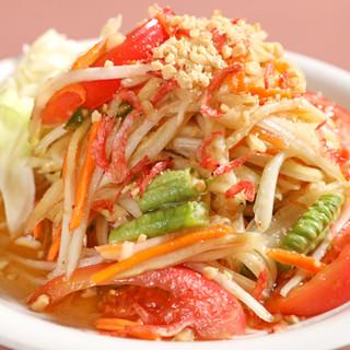 素材にもこだわった本格タイ料理で身体の中から美しく健康に♪