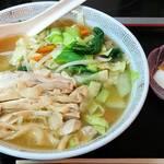 好味苑 - 好味苑 @本蓮沼 日替わりランチB 鶏肉麺 税込500円 小炒飯不用で