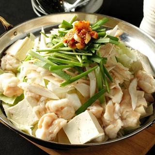 好きなお味で博多名物のもつ鍋をどうぞ。