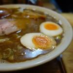 麺 高はし - 味玉とスープの相性も良い 味玉の追加は(+80円)