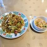 中華菜館 五福 - 皿うどん(\900+税)の炒飯セット(\270+税)