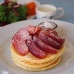 ピーシーエイチコーヒー - (期間限定)りんごのキャラメリゼパンケーキ