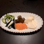 四季酒菜庵 魚徳 - お漬物