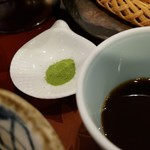 91639708 - めんつゆと抹茶塩です。
