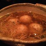 ごはんや Gochi - 大きなつくねの、スープ仕立てだよ。