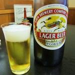 鰻家 - ビールを飲みながら鰻待ち♫