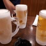 でん助 - グラスまで冷えてます〜