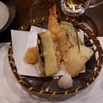 でん助 - 天ぷら。野菜天ぷら美味しい!