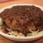 飲食笑商何屋ねこ膳 - ハンバーグデミソース 350円
