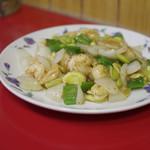 中国料理味味 - エビとソラ豆炒め