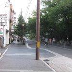 日本料理 櫻川 - 店前の木屋町通り