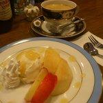 9165935 - 手作り桃のアイスクリーム