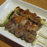 9165979 - 泉坂:串焼きセット(豚、地鶏、砂肝)