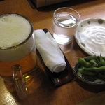 9165981 - 泉坂:ビール、枝豆