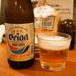 魚寿司 - オリオンビール(びん)