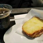 カフェ146 - クロックムッシュ、アイスコーヒー