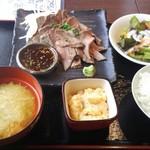 日本酒専門 のすけ - ローストビーフ定食