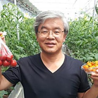 ラム肉にはトマトがよく合う!岡田さんのカラフルトマト♡