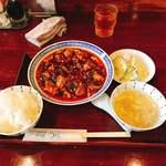 91662281 - 四川麻婆豆腐ランチです。(2018.8 byジプシーくん)