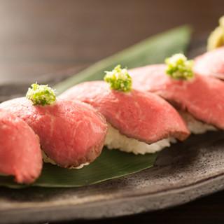 人気の「肉寿司定食」は並と上の2種類♪