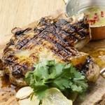 大山鶏のパリパリグリルチキンステーキ