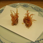 天ぷら新宿つな八 - 車海老の頭