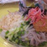 お弁当のヒライ - ぶっかけ蕎麦 199円