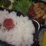お弁当のヒライ - ハンバーグ弁当 380円