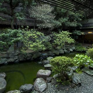 四季を映す日本庭園。季節の移ろいをお楽しみください