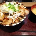上州ぽ~く亭 - 溶岩焼きロースバラ豚丼