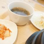 ビビンバ 全州屋 - 小鉢、汁