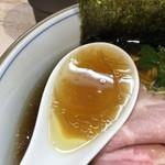 中華そば 四つ葉 - 鶏スープ