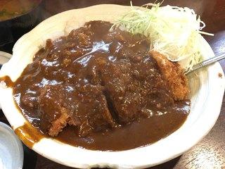 楽天 - カツカレー定食(800円)