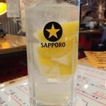 羊肉酒場 悟大 - 最強レモンサワー用のおかわり酎ハイ250円は氷有り